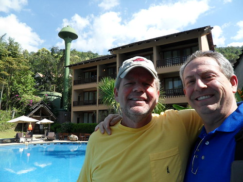 Mike Forbis and Fred outside our rooms_Chiang Mai