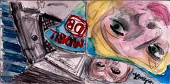 seit er gegangen war, hatte sich die Welt erheblich verändert (raumoberbayern) Tags: station bahnhof sketchbook skizzenbuch tram munich bus strasenbahn pencil bleistift ballpoint paper papier robbbilder stadt city landschaft landscape spring frühling summer sommer trip germany münchen ice zeitschrift zug bahn train magazine