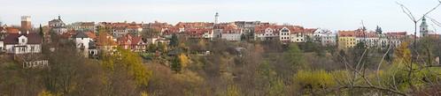 Panorama Starego Miasta w Sandomierzu ze Wzgórza Świętopawelskiego