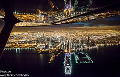 Downtown Chicago - March 22nd, 2017 (brylek6) Tags: cessna general aviation chicago downtown lake michigan wing reflections navy pier