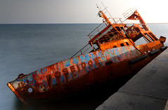 Poseidon's decay... (Michael Kalognomos) Tags: poseidon shipwreck greece athens piraeus sea milky waves seaside water rust sink ghostship landscape decay abandonment waterfront wreck longexposure canoneos70d ef24105mmf4l ndfilter outdoor port