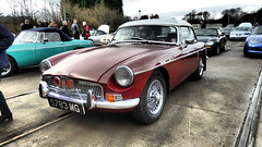 1971 MG. (ManOfYorkshire) Tags: 1971 mg saloon car auto automobile maroon restored preserved asnew extras locomotion shildon durham owners club display onshow show headlight wire mesh wheels covers chrome 5783mg
