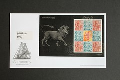 Constellation Leo -  FDC from DX29 'Across the Universe' Stamp Booklet (Darren...) Tags: