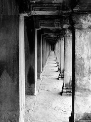 Enter Oblivion (Ron Scubadiver's Wild Life) Tags: monochrome blackandwhite ruins nikon cambodia angkor wat temple 24120