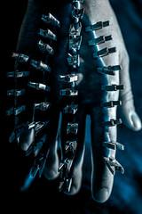 Pinhand (AlteredExposureImageDesign) Tags: alteredexposureimagedesign jessemount jessesavage pain bdsm bondage clothespins macro painful