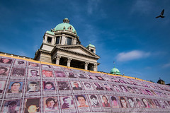Un-recognized Serbian victims of Kosovo conflict in front of Serbian Parliament, Belgrade (Vagabundina) Tags: country war victims mourning europe oldcontinent serbia belgrade capital history conflict kosovo southeurope street people city cityscape nikon nikond5300 dsrl
