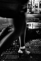 R0049453 (G. L. Brown) Tags: broadway foot night puddle reflection shoe woman nashville nashvillestreetphotography noir streetphotography blackandwhite bw