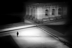 ...abovetherooftops... (*ines_maria) Tags: germany berlin reichstag rooftops street streetphotography urban urbanart city woman architecture light shadow reflection lonely cold bw blackandwhite blancetnoire monochrome mono panasonicdmcgx8 window roofs