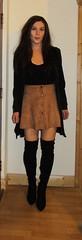 Suede mini skirt and otk boots. (MissMajaRyan) Tags: otkboots longboots miniskirt mini suede suedeminiskirt skirtandboots