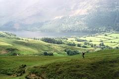 Buttermere from Grasmoor (the underlord) Tags: lake film water walking 50mm countryside lakedistrict rangefinder hike walker hiker nikkorh buttermere grasmoor nikons2 5cmf2 agfavistaplus200