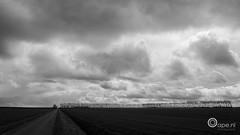 Land (Oape) Tags: sky bw clouds landscape scenery outdoor land groningen oldambt