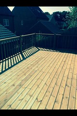 "A before and after photos of a decking job in Loughborough, making use of a un useful area • <a style=""font-size:0.8em;"" href=""http://www.flickr.com/photos/72072497@N07/14267861789/"" target=""_blank"">View on Flickr</a>"