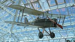 Classic & Modern... (BIKEPILOT) Tags: aircraft aviation wwi shoppingcentre hampshire aeroplane firstworldwar farnborough biplane rfc se5a royalaircraftfactory royalflyingcorp princesmeade