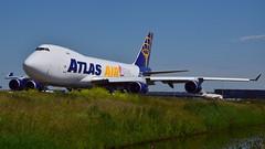N408MC Atlas Air B747-400(1) (ralphpopken) Tags: amsterdam ana air cargo atlas boeing astral schiphol 747