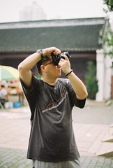 (Shane Yeh) Tags: street portrait people color film 50mm shanghai kodak f14 nikonf3 shanghai confucioustemple