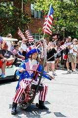 Fast Action Uncle Sam (brianlrodgers) Tags: columbus ohio parade 4thofjuly shortnorth unclesam doodah 614 doodahparade cbus doodah2014