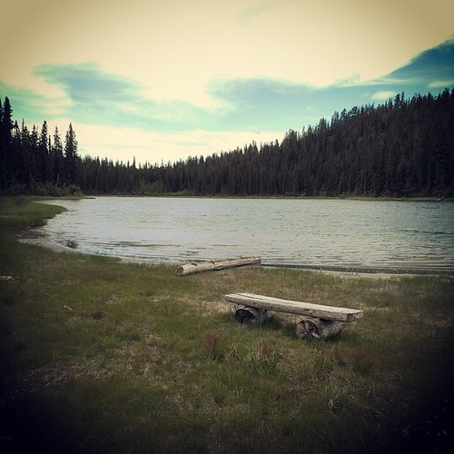 Long Lake #yxy has scenic trail, but tiny beaches #Yukon
