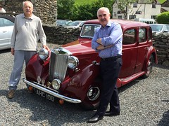 A lovely guest with his fabulous car