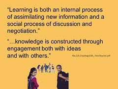 "Education Postcard: ""Collaboration - learning arises from our dialogues"" (Ken Whytock) Tags: school students education social learning knowledge discussion teachers ideas collaboration negotiation internal assimilating dialgoue"