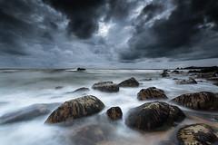 Storm on the way [EXPLORED 05.07.2014 Best Rank #4] (www.samuel-berthelot.com) Tags: ocean longexposure sky seascape storm rocks dramatic leefilter