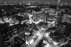 Canal St and 6th Ave (dansshots) Tags: nyc newyorkcity blackandwhite newyork nikon tribeca bnw newyorkatnight nikond3 dansshots