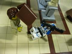 Order 66 - Jedi Temple Library (bluenynja808) Tags: lego jedi temple library starwars jedipurge anakinskywalker darthvader 501stlegion clonetroopers appo jocastanu order66 jetpacktrooper masterjediemmet bookshelf clone army customs minifigs4u pringles eclipsegrafx order 66 knightfall star wars 501st legion assassin jet trooper