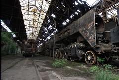 Dead Locos (Landie_Man) Tags: abandoned train hungary sad budapest trains forgotten huge derelict locomotives locos hungart collosal