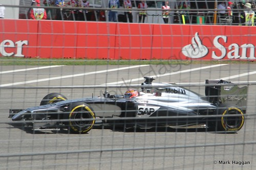 Jenson Button in qualifying for the 2014 German Grand Prix
