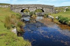 Bridge over the West Dart at Lower Cherry Brook Dartmoor (Eddie Crutchley) Tags: bridge england stream europe devon dartmoor