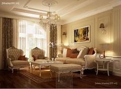 Thiết kế nội thất phòng khách tân cổ điển_010