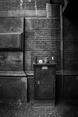 trash (SERIES-ONE) Tags: street old white black amsterdam contrast trash tunnel gritty dirty