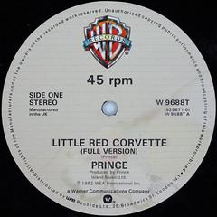 Prince - Little Red Corvette (Full Version) (Leo Reynolds) Tags: xleol30x squaredcircle 45rpm record single vinyl platter disc 12inch ebaywroxham sqset111 canon eos 40d xx2014xx sqset