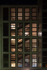 Scale (stefanoschievano) Tags: light urban building scale window architecture night stairs hospital dark log urbana past architettura simmetria sera finestre simmetry ospedale
