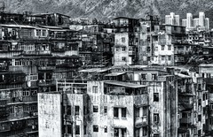 the sky above the port was the color of television, tuned to a dead channel (paddy_bb) Tags: china travel bw facade hongkong asia cityscape 1992 desolate paddybb