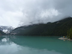 Lake Louise, Banff National Park, Alberta, Canada (Loeffle) Tags: lake canada rain see nationalpark day lac alberta lakelouise kanada banffnationalpark canadianrockies lakeofthelittlefishes 062014