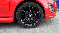 "Vauxhall black on red alloy wheel refurbishment by We Fix Alloys • <a style=""font-size:0.8em;"" href=""http://www.flickr.com/photos/75836697@N06/14876060075/"" target=""_blank"">View on Flickr</a>"