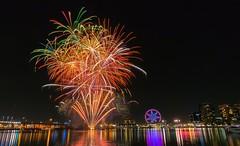 Eruption (Aspenz13) Tags: winter fireworks harbour melbourne docklands 7pm nikon1 nikonv3