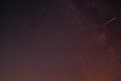 Shooting Star (rudolphfelix) Tags: sky night canon way eos star nacht deep himmel falling shooting milky iss sterne sternschnuppe 2014 milchstrasse empfingen 1000d