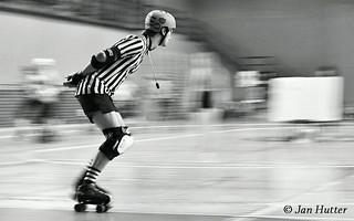 Roller Derby Zebra Referee