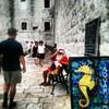Croatian Santa (louisemccall53) Tags: santa christmas old city summer holiday wall town croatia dubrovnik flickrandroidapp:filter=none