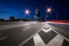 Zrich Hardbrcke Nightshot (akarakoc) Tags: street light tower night canon stars prime trails 20mm zrich f28 ef hardbrcke