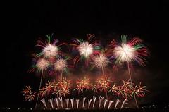 第24回赤川花火大会 The 24th Akagawa Fireworks Festival (ELCAN KE-7A) Tags: japan river aka pentax fireworks 日本 yamagata 山形 花火 2014 tsuruoka shonai 鶴岡 庄内 ペンタックス 赤川 伊那火工堀内 k5ⅱs 煙火店