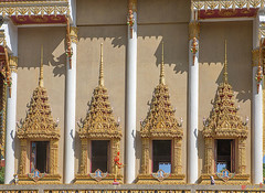 Wat Khao Rang Ubosot Windows (DTHP0553) วัดเขารัง หน้าต่าง อุโบสถ