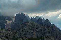 Taken from Rifugio Auronzo (Pieter Mooij) Tags: italy mountain mountains berg italia berge bergen peaks italie dolomites dolomiti dolomiten mountainpeaks dolomieten leicar bergtoppen flickraward leicam240
