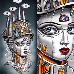 Digital painting #steamgirl #?#$##