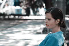 (krisztinhatvani) Tags: park light red portrait green girl lipstick