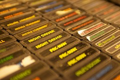 Atari 2600 Cartridges (little fern photography) Tags: show seattle fire jump nw shoot northwest buttons arcade hobby atari joystick retro videogames 80s button pacificnorthwest videogame hobbies cartridges cartridge highscore gameroom pacificnw arcadegame arcardes nwpinballandgameroomshow