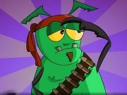 Bugs Got Guns (gry_flashowe) Tags: walka jabłko obrona wojna robaki 2graczy
