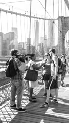 USA Today Interview (Ginger Snaps Photography) Tags: life street new york city bridge usa brooklyn lumix today interview fz200