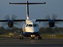 D-CIRP.Dornier 328-110 (Vidar Ringstad, Norway) Tags: shadow sun hot sunshine norway plane canon airplane eos norge wings warm tail flight norwegen heat 7d gras asphalt propel